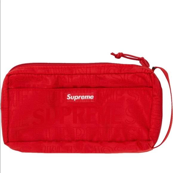 e2de8d7f943 Supreme Bags   Ss19 Organizer Pouch Red   Poshmark